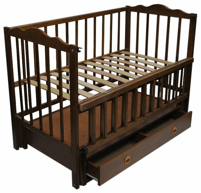Кроватка Кузя Анастасия (с ящиком)