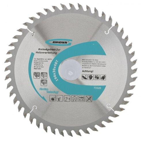 Пильный диск Gross 73320 190х30 мм диск пильный зубр 190х30 мм 24т 36850 190 30 24