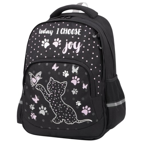 Купить BRAUBERG рюкзак Soft Joyful kitten (228791), черный, Рюкзаки, ранцы