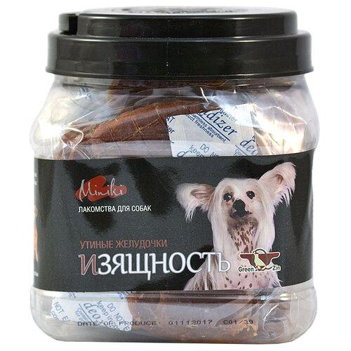 Фото - Лакомство для собак Green Qzin Miniki Изящность, утиный желудок для минипород, 525 г лакомство для собак green qzin miniki гибкость мягкие утиные хрящики для мини пород 260 г