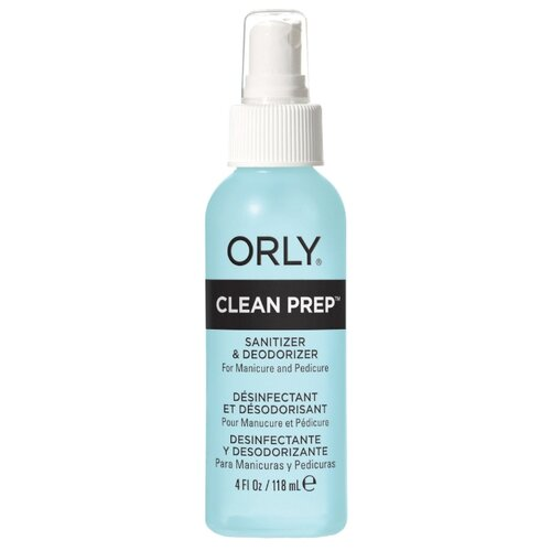 Orly Дезинфицирующее средство для маникюра и педикюра Clean Prep 118 мл, с дозатором