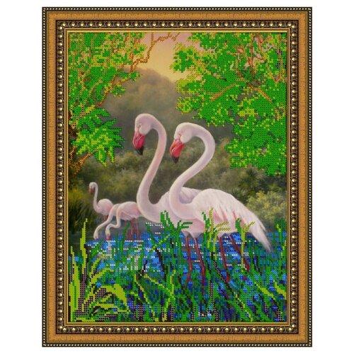 Купить Диамант Набор алмазной вышивки Фламинго (ДК-340) 30х38 см, Алмазная вышивка