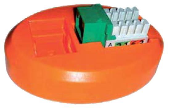 Площадка для заделки модулей Keystone Hyperline KJ2-PS-OR
