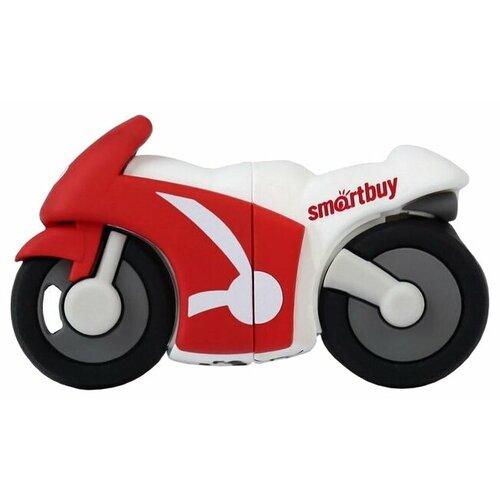 Фото - Флешка SmartBuy Wild series Motobike 32GB красный/белый флешка smartbuy wild series owl