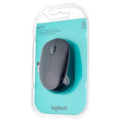 Мышь Logitech M171 Wireless Mouse Black USB мышь logitech wireless mouse b 170 black 910 004798
