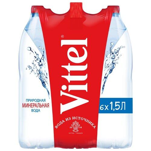 Минеральная вода Vittel негазированная, ПЭТ, 6 шт. по 1.5 л