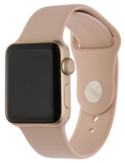 INTERSTEP Ремешок SPORT для Apple Watch 42/44 мм, силикон розовый