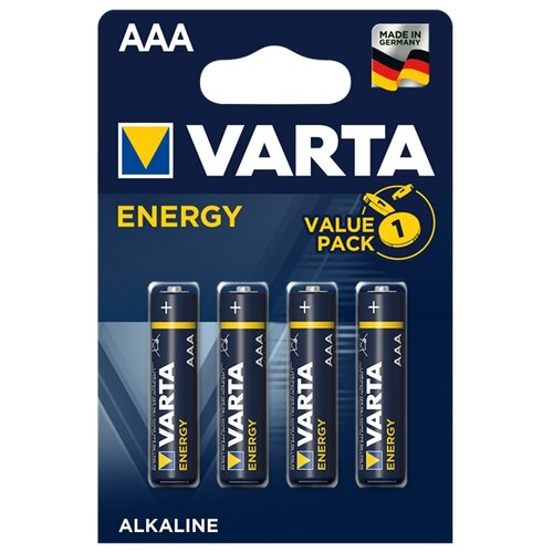 Батарейка VARTA ENERGY AAA 4 шт блистер батарейка camelion green series aaa 4 шт блистер