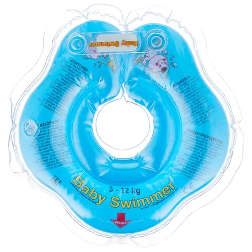 Круг на шею Baby Swimmer 0m+ (3-12 кг) голубой