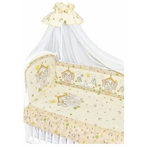 Купить Золотой Гусь комплект Лошадки (7 предметов) бежевый, Постельное белье и комплекты