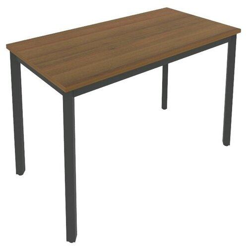 Письменный стол Рива Slim С.СП, ШхГ: 118х60 см, цвет: металл антрацит/орех