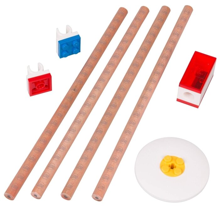 Канцелярский набор LEGO 52052 8 пр. бежевый/красный/синий