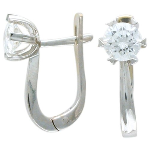 Эстет Серьги с бриллиантами из белого золота 750 пробы 01С672792 фото