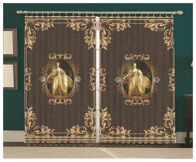 Купить Комплект штор Мария Антуанетта Голд150*270 (2) по низкой цене с доставкой из Яндекс.Маркета (бывший Беру)