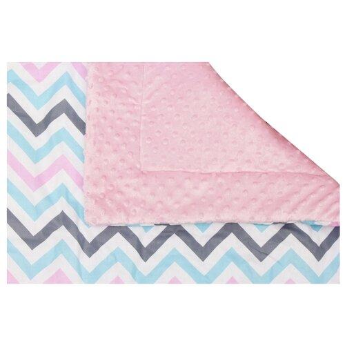 Купить Плед Amarobaby Растем вместе 85х95 см розовый/зигзаг, Покрывала, подушки, одеяла