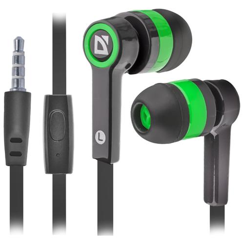 Купить Наушники Defender Pulse-420 черный/зеленый