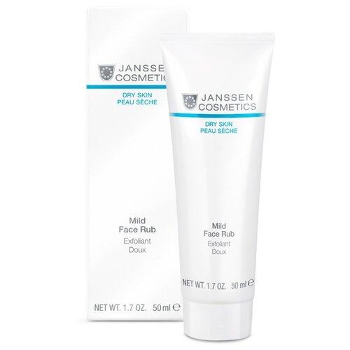 Janssen Cosmetics скраб для лица Dry Skin Mild Face Rub с гранулами жожоба мягкий 50 мл janssen cosmetics эмульсия очищающая mild creamy cleanser 200 мл