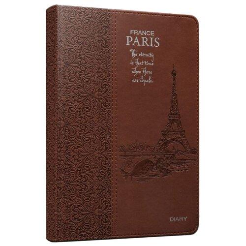 Ежедневник Collezione Париж-8недатированный, искусственная кожа, А5, 160 листов, коричневыйЕжедневники, записные книжки<br>