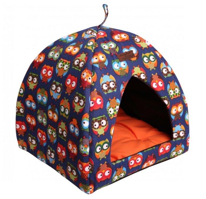 Лежанка-домик для кошек и собак Lion Manufactory 42x42x45 см