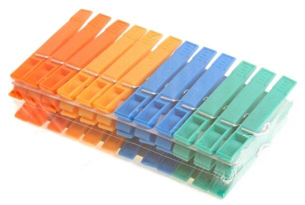 ROZENBAL прищепки пластиковые разноцветные 24 шт.