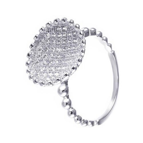 ELEMENT47 Кольцо из серебра 925 пробы с фианитами SR3315W-KO-001-WG, размер 17.25
