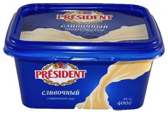 Сыр President плавленный сливочный 45% 200г