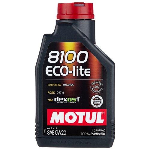 Моторное масло Motul 8100 Eco-lite 0W20 1 л моторное масло motul 8100 eco lite 0w 20 1 л