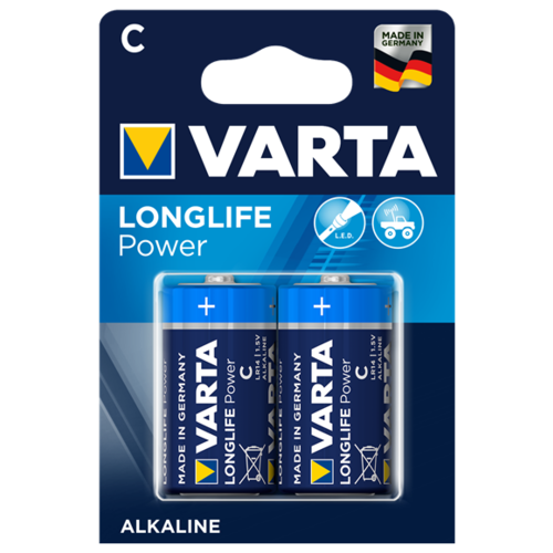 Фото - Батарейка VARTA LONGLIFE Power C/LR14 2 шт блистер батарейка varta longlife power 3lr12 1 шт блистер