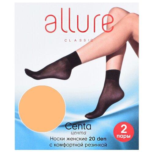Капроновые носки Centa 20 den набор 2 пары ALLURE glase универсальный (ALLURE)Носки<br>