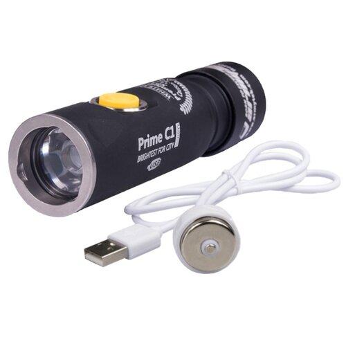 Ручной фонарь ArmyTek Prime C1 XP-L Magnet USB (теплый свет) + 18350 Li-Ion черный ручной фонарь l a g s011 золотой