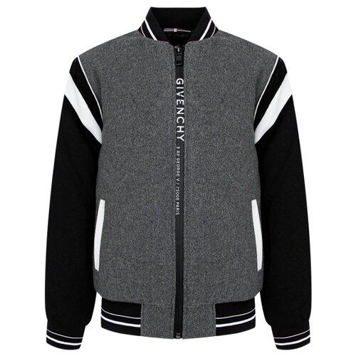 Бомбер GIVENCHY H26063M10 размер 152, серый футболка givenchy размер 152 серый белый