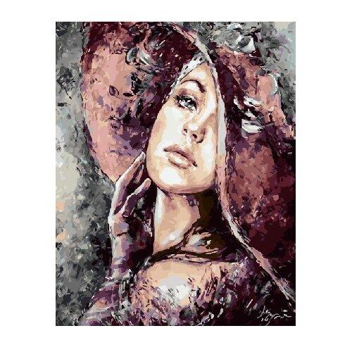 Купить ВанГогВоМне Картина по номерам Девушка-загадка , 40х50 см (ZX 21879), Картины по номерам и контурам