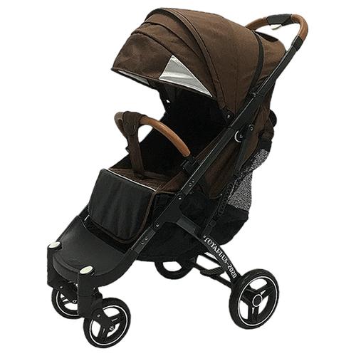 Купить Прогулочная коляска Yoya Plus Pro Max 2020 (дожд., москит., подстак., бампер, сумка-чехол, корзина д/покупок, ремешок на руку, накидка на ножки на молнии, бамб. коврик) коричневый/серая рама, цвет шасси: серый, Коляски
