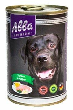 Корм для собак Авва (0.4 кг) 1 шт. Консервы Premium Adult Turkey and Apple