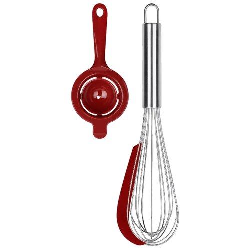 Набор навесок MOULIN VILLA Cherry, нержавеющая сталь/силикон/полипропилен (2 шт.) нержавеющая сталь/красный