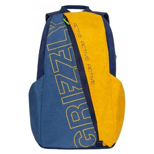 Рюкзак Grizzly RQ-910-1 9 синий/желтый