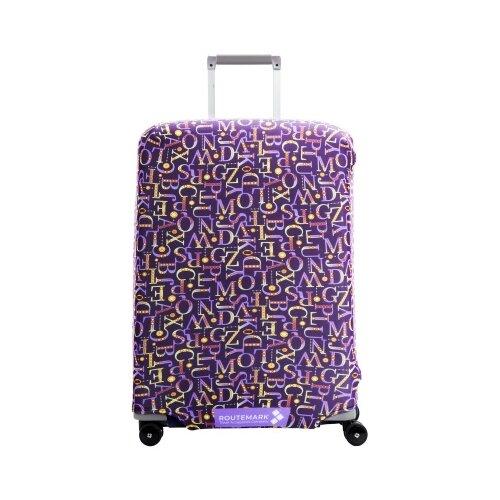 Чехол для чемодана ROUTEMARK «Мирта» ART.LEBEDEV SP500 M/L, синий чехол для чемодана routemark искры и блестки art lebedev sp310 s фиолетовый