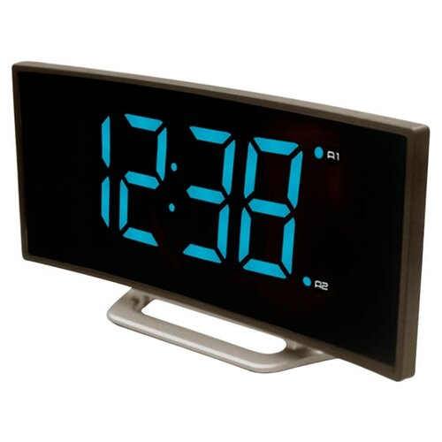 Часы настольные BVItech BV-412 серый/голубой настольные часы bvitech bv 412g