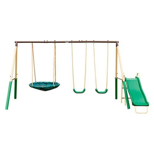 Купить Спортивно-игровой комплекс DFC 94013 зелёный/ бежевый, Игровые и спортивные комплексы и горки