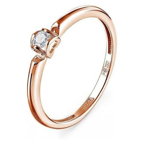KABAROVSKY Кольцо с 1 бриллиантом из красного золота 11-01206-1000, размер 16.5 фото