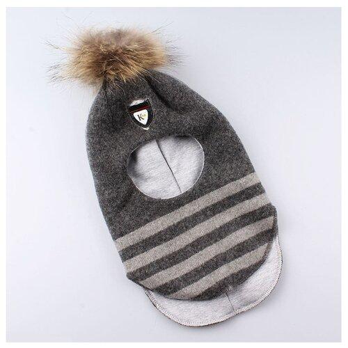 Шапка-шлем КОТОФЕЙ размер 48-50, серый шапка шлем reike размер 50 серый