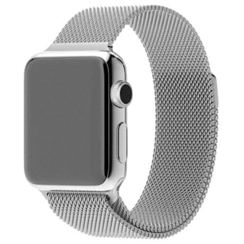 Фото - EVA Ремешок Milanese Loop Stainless Steel для Apple Watch 42/44mm серебристый ремешок devia elegant series milanese loop для apple watch 4 44mm silver