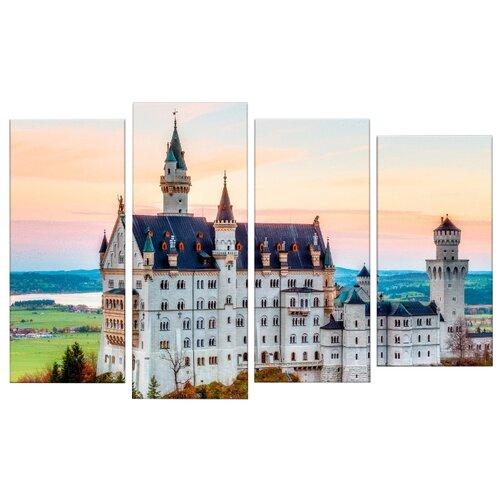 Модульная картина Картиномания Замок Нойшванштайн в Германии 140х90 смКартины, постеры, гобелены, панно<br>