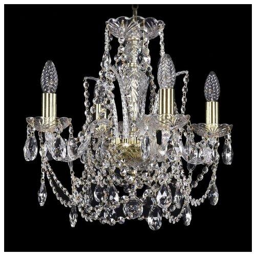 Фото - Люстра Bohemia Ivele Crystal 1411 1411/4/141/G, E14, 160 Вт люстра bohemia ivele crystal 1411 1411 6 141 g e14 240 вт