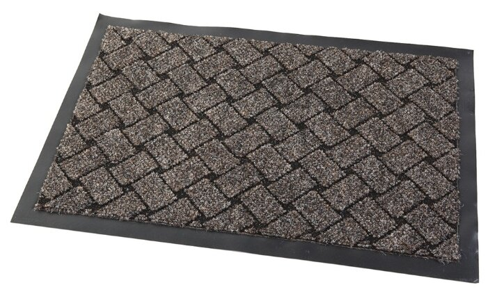 Придверный коврик RemiLing Torino, размер: 0.6х0.4 м, серый