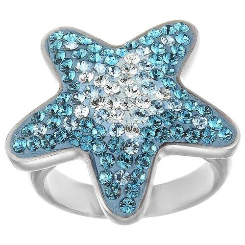 JV Кольцо с фианитами из серебра RS0044-001-WG, размер 18 jv кольцо с фианитами из серебра dm2077r 001 wg размер 18