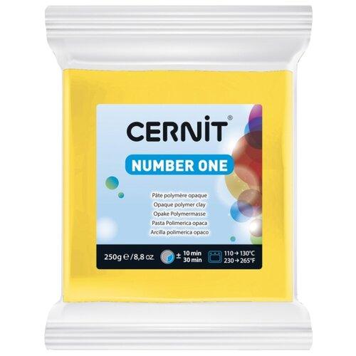 Купить Полимерная глина Cernit Number one желтая (700), 250 г, Глина