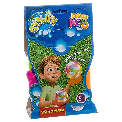 Набор эластичные мыльные пузыри Bondibon Наше Лето ВВ2795 80 мл разноцветный пистолет bondibon наше лето рыбка мыльные пузыри 2х60 мл