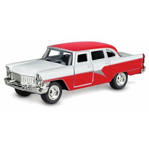 Легковой автомобиль ТЕХНОПАРК ГАЗ-13 Чайка (X600-H09083-R) 1:48 красный/белый легковой автомобиль технопарк электокар x600 h09225 r 10 см черный белый