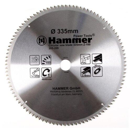Пильный диск Hammer Flex 205-209 CSB PL 335х30 мм диск пильный твердосплавный hammer ф160х30мм 36зуб